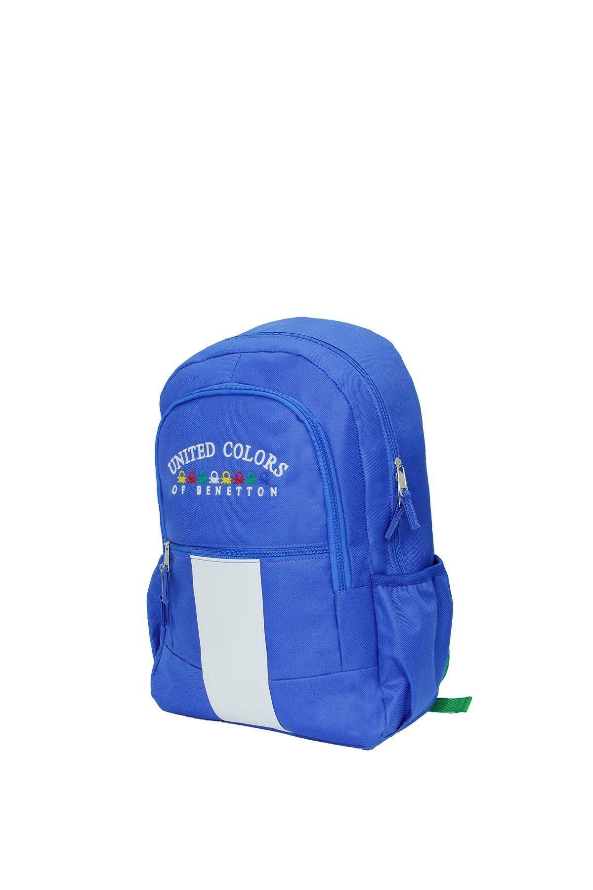 United Colors of Benetton Unisex Mavi Matara Cepli Sırt Çantası 70055 2