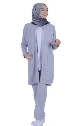 Basic Comfort Kadın Gri Melanj Eşofman Takımı