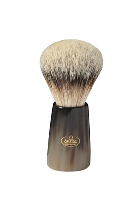 Omega Tıraş Fırçası %100 Silvertip Porsuk Kılı Gerçek Boynuz Sap 6226