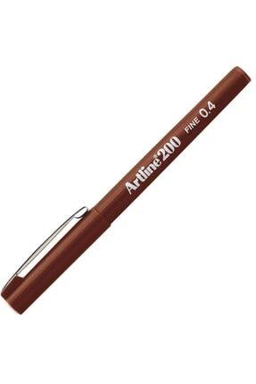 artline Artlıne Ek-200n Fıne Lıne Pen 0.4 Mm Brown
