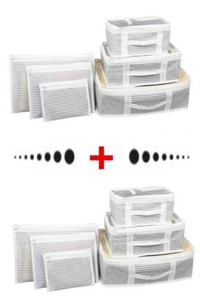 Vivyan 2 Adet Bavul Içi Düzenleyici Organizer 6 Lı Set Seyahat Çantası Düzenleyici Bavul Içi Organizer