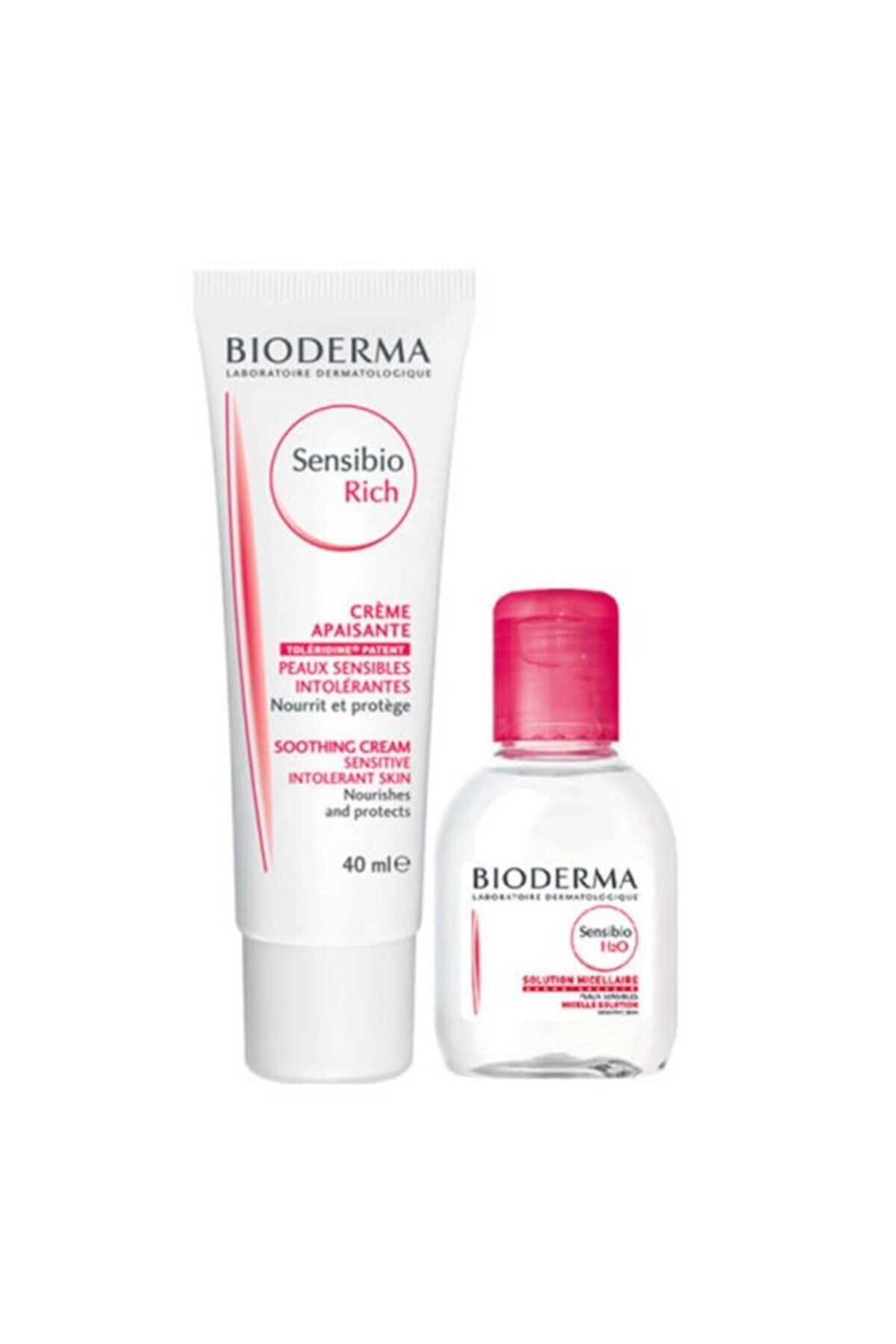 Bioderma Sensibio Rich Cream 40 Ml + Sensibio H2o 100 Ml Skt:2021 1