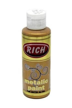 Rich Metalik Akrilik Boya 130 Cc. 726 Antik Altın