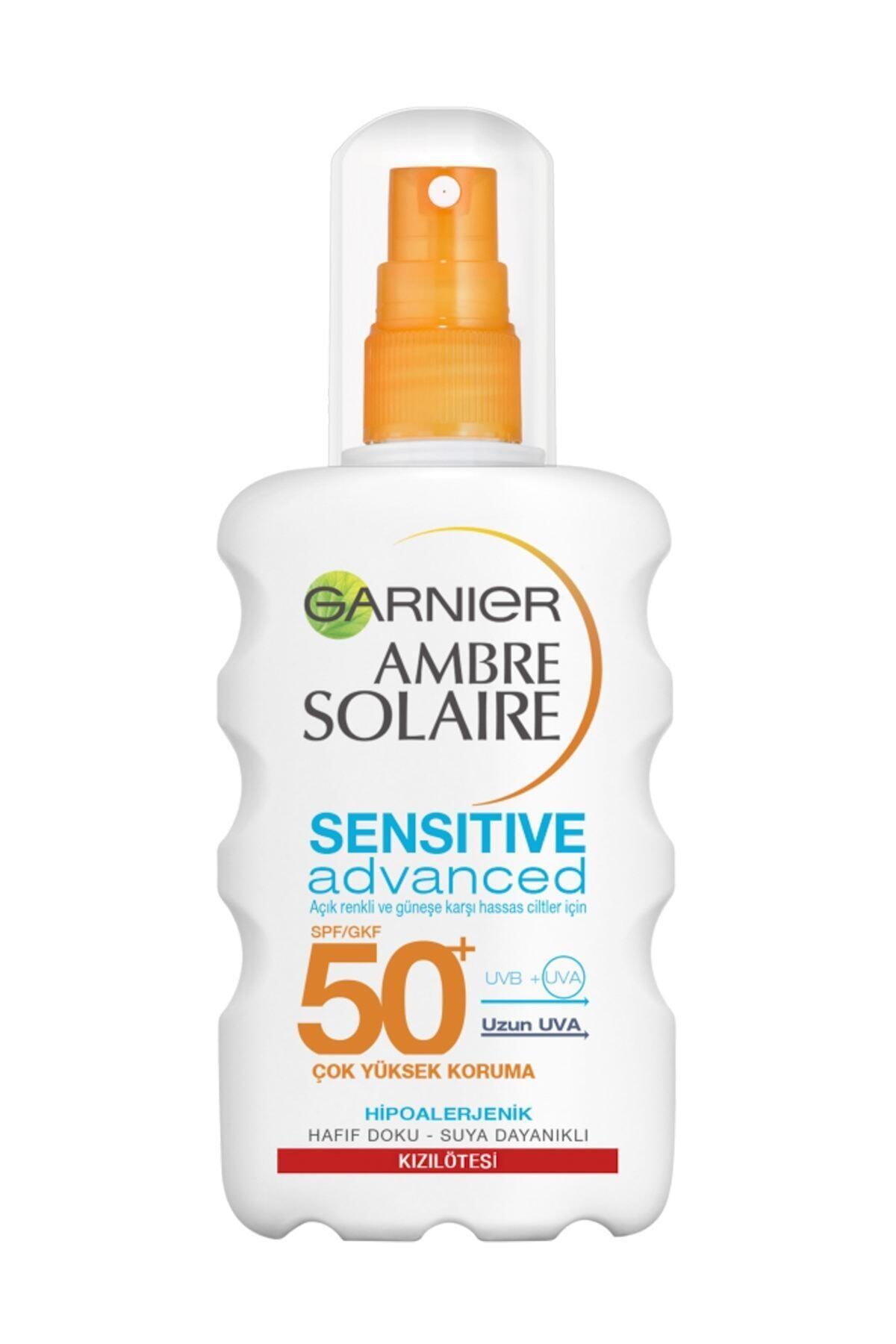 Garnier Hassas Ciltler İçin Güneş Koruma Spreyi - Ambre Soleire SPF 50+ 200 ml 1