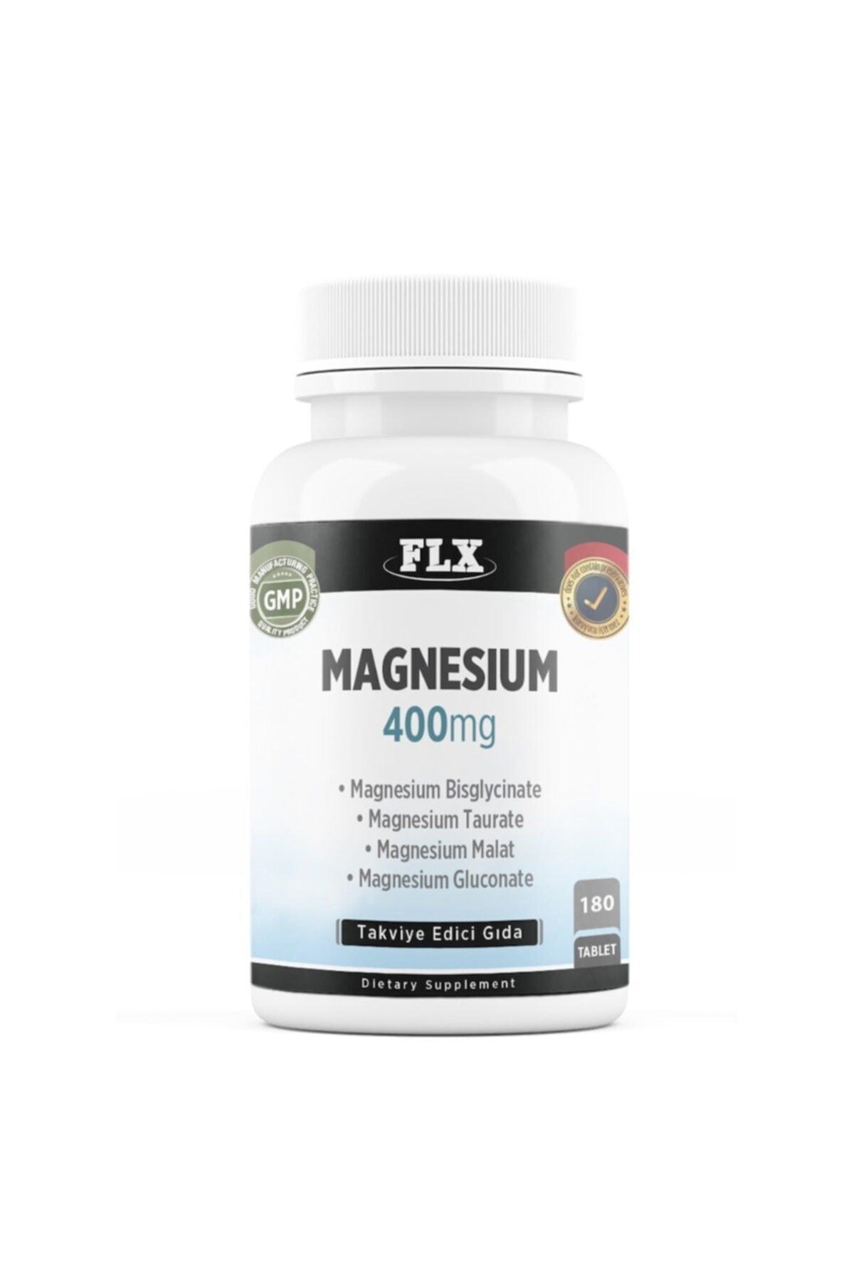 FLX Elemental Magnesium Bisglisinat Malat Taurat Glukonat Magnezyum 180 Tablet 1