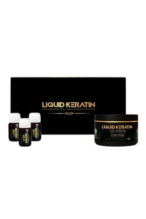 Liquid Keratin Yıpranmış Saçlara Bakım Onarıcı Keratin Seti (serum Ve Maske)