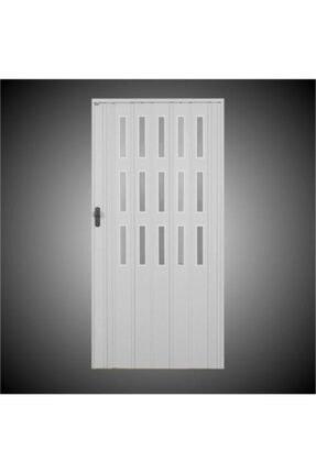 Penguen Akordiyon Katlanır Kapı 12 Mm Beyaz Camlı En 88 - 102 Cm Arası * Boy 221 - 235 Cm Arası