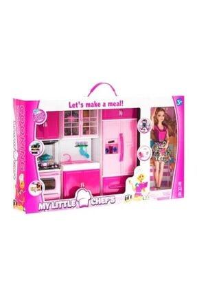 Kayyum Oyuncak Barbie Bebek Ve 3'lü Mutfak Seti
