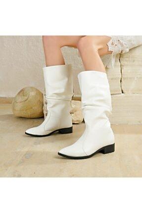Butigo Kadın Beyaz Westernaysan Çizme