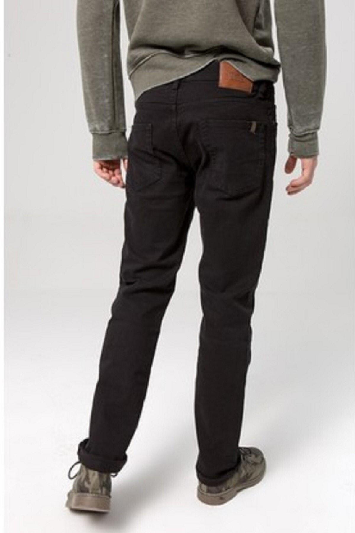 Ltb Erkek Siyah Geniş Paça Likrasız Pantolon 1