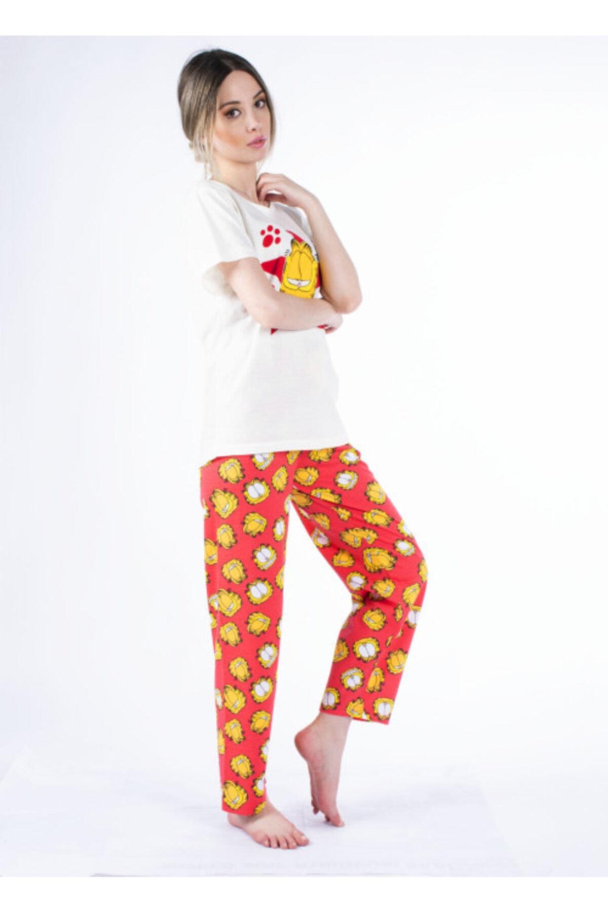 Vision Kadın Kırmızı Pijama Takımı 2