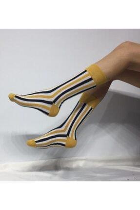 ADEL ÇORAP Unisex Sarı Soket Çorap