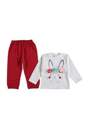 Crazy Baby Tavşanlı Penye Takım Kırmızı 2 Yaş