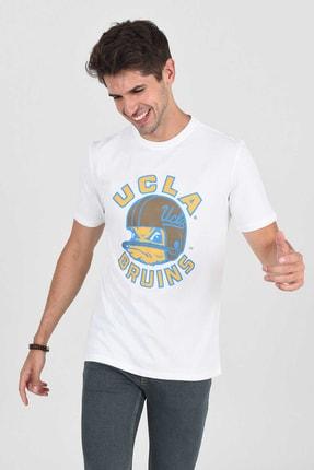 UCLA GALT Beyaz Bisiklet Yaka Baskılı Erkek Tshirt
