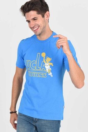 UCLA PINOLE Mavi Bisiklet Yaka Baskılı Erkek Tshirt