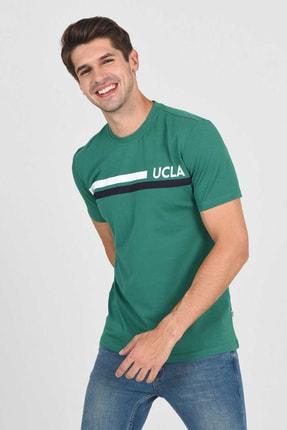 UCLA APTOS Yeşil Bisiklet Yaka Baskılı Erkek Tshirt