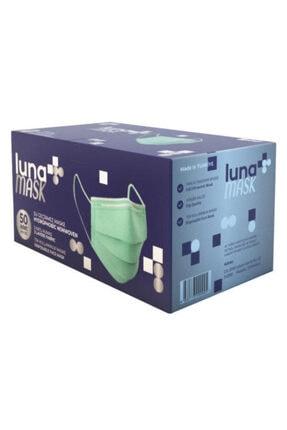Luna 3 Katlı Cerrahi Maske 50'li Açık Yeşil