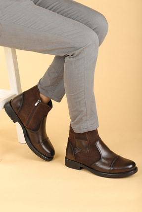 Ayakland Erkek Kahverengi Termo Taban İçi Kürklü Fermuarlı Bot Ayakkabı 640