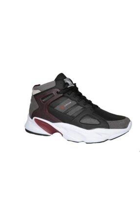 MP Erkek Siyah Bordo Basket Sneakers
