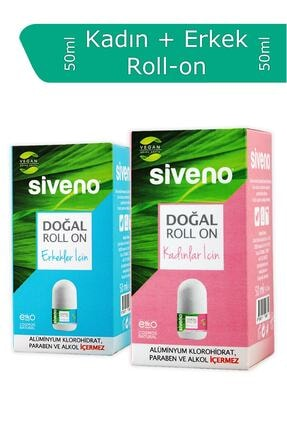 Siveno Doğal 2'li Set Kadın + Erkek Roll-on 2x 50ml Sset-000002