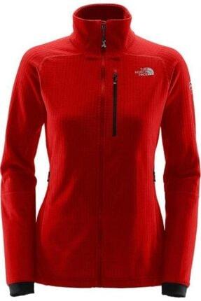 THE NORTH FACE Kadın Kırmızı Sweatshirt W Smt L2 Ff Flc Fz Fıery