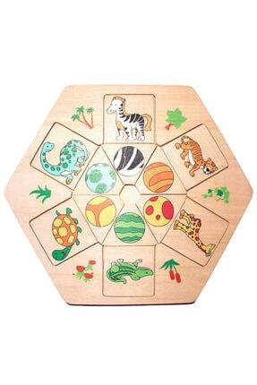 Wooden Toys Ahşap Hayvanlar Böcekler Yapboz Puzzle Pazıl