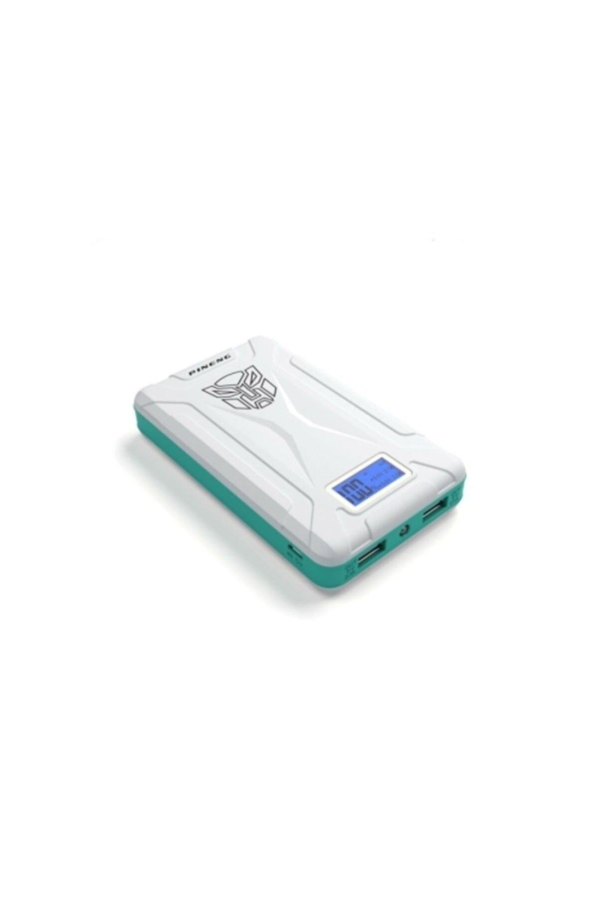 Pineng Pn-933 10000 Mah Powerbank Led Dijital Göstergeli Taşınabilir Şarj Cihazı - Beyaz 1