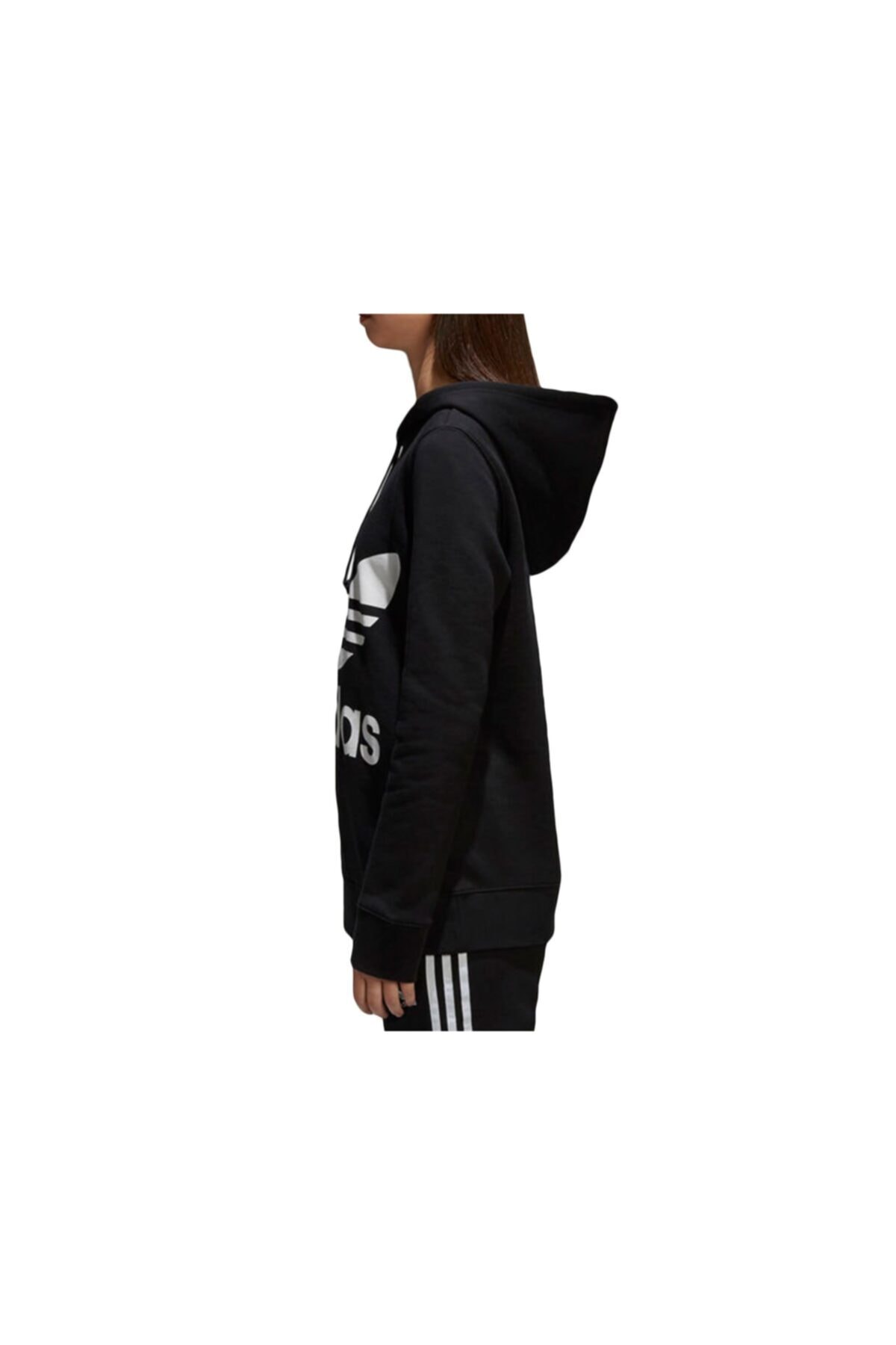 adidas Kadın Siyah Ce2408 Trefoıl Hoodıe Sweatshirt 2