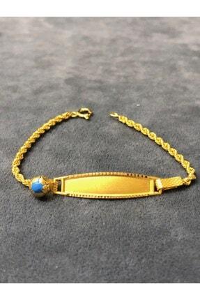 Ercan Kuyumculuk Unisex Sarı 14 Ayar 1.4 Gram Çocuk Künyesi 13 cm
