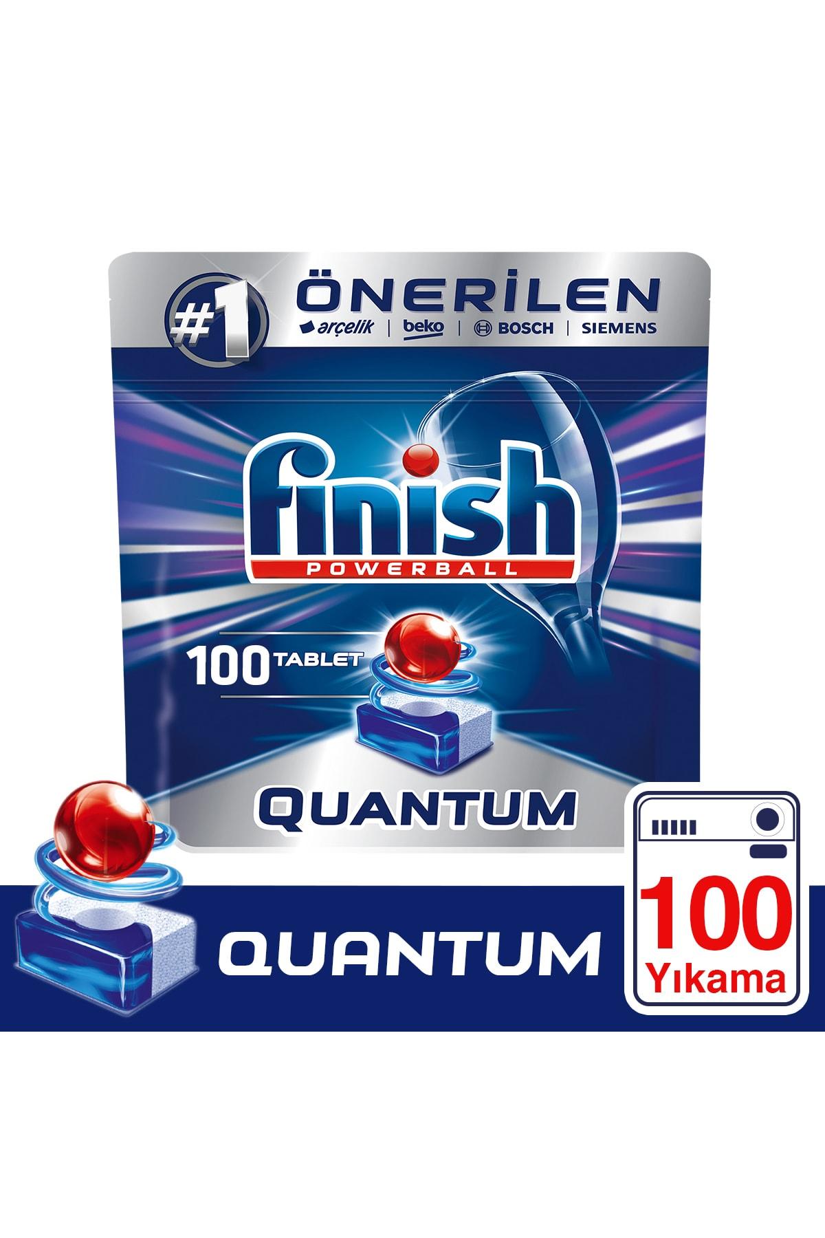 Finish Quantum 100 Tablet Bulaşık Makinesi Deterjanı 1
