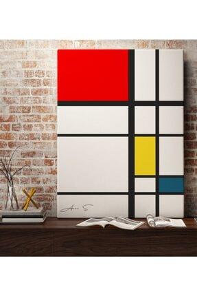 BK Kişiye Özel Mondrian Kanvas Tablo 50 X 70 cm