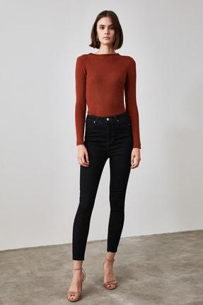 TRENDYOLMİLLA Siyah Yüksek Bel Skinny Jeans TWOAW21JE0387