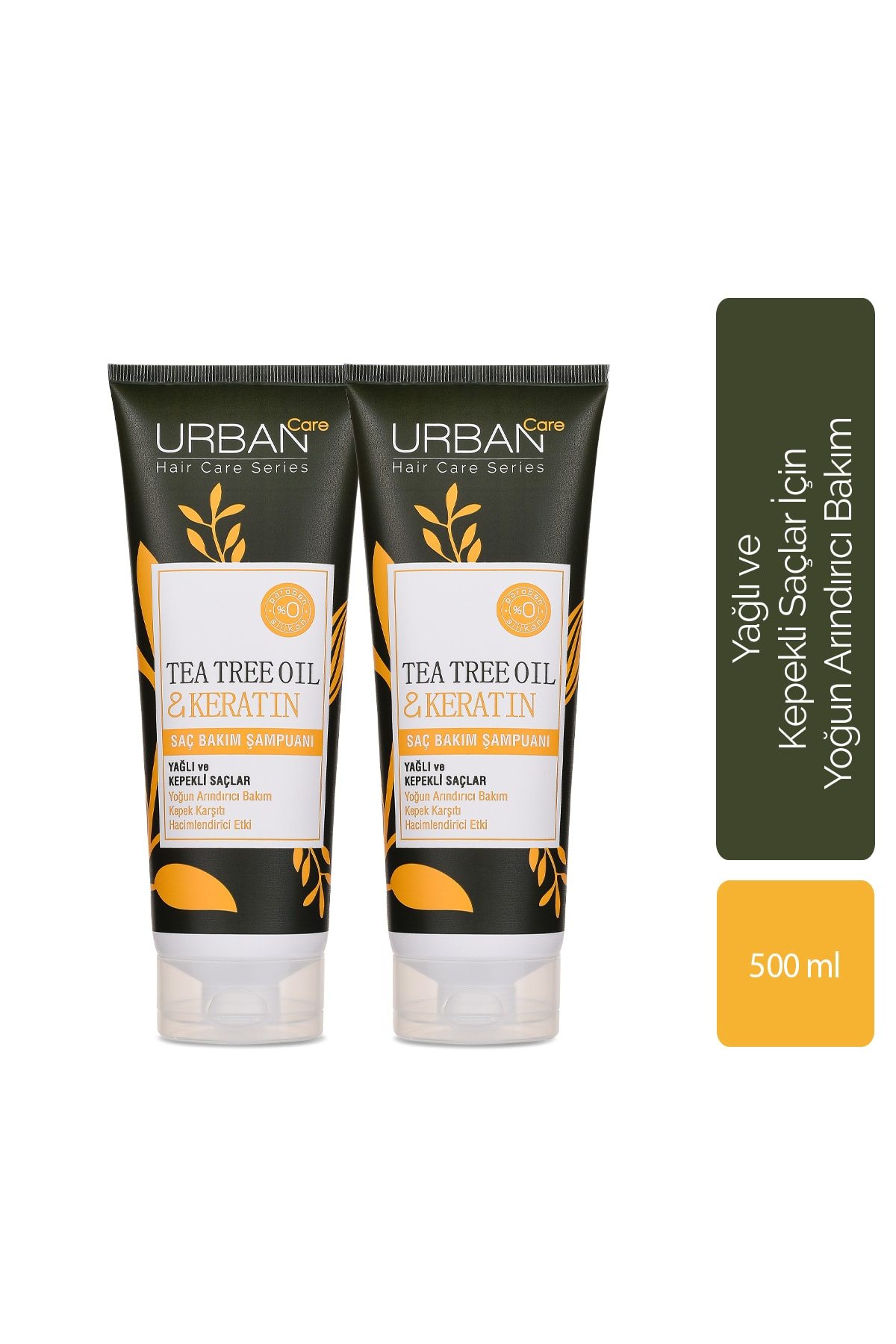 Urban Care Tea Tree Oil & Keratin Saç Bakım Şampuanı x2'li Set