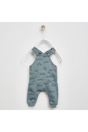 Panço Erkek Bebek Mavi Örme Salopet 2021bb24007