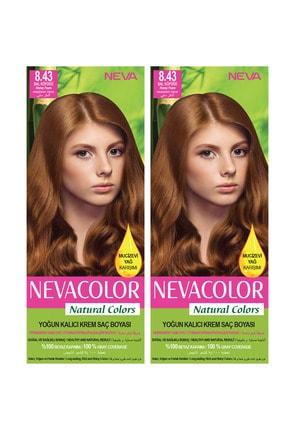 NEVA KOZMETİK Natural Color Saç Boyası 8.43 Bal Köpüğü 2'li