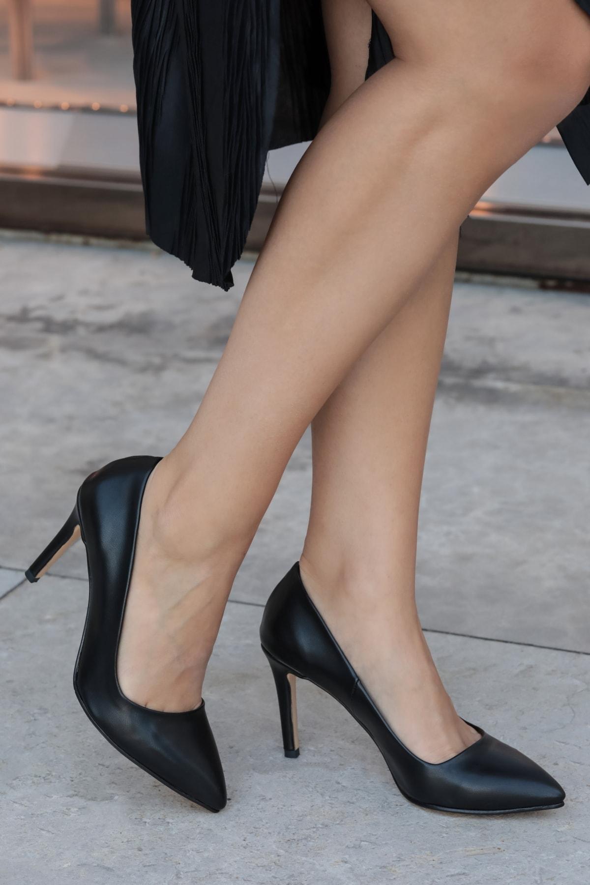 Mio Gusto Basic Siyah Stiletto 1