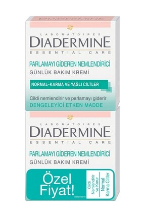 Diadermine Normal, Karma Ve Yağlı Ciltler Için Nemlendirici Bakım Kremi 2'li 50 Ml + 50 Ml