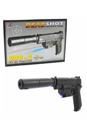 RoseRoi Lazer Işıklı Susturuculu Boncuk Atan Tabanca Oyuncak Silah