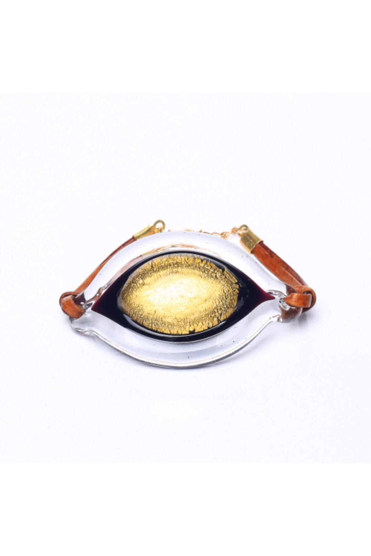 NK Artglass Gold Büyük Göz Bileklik 2