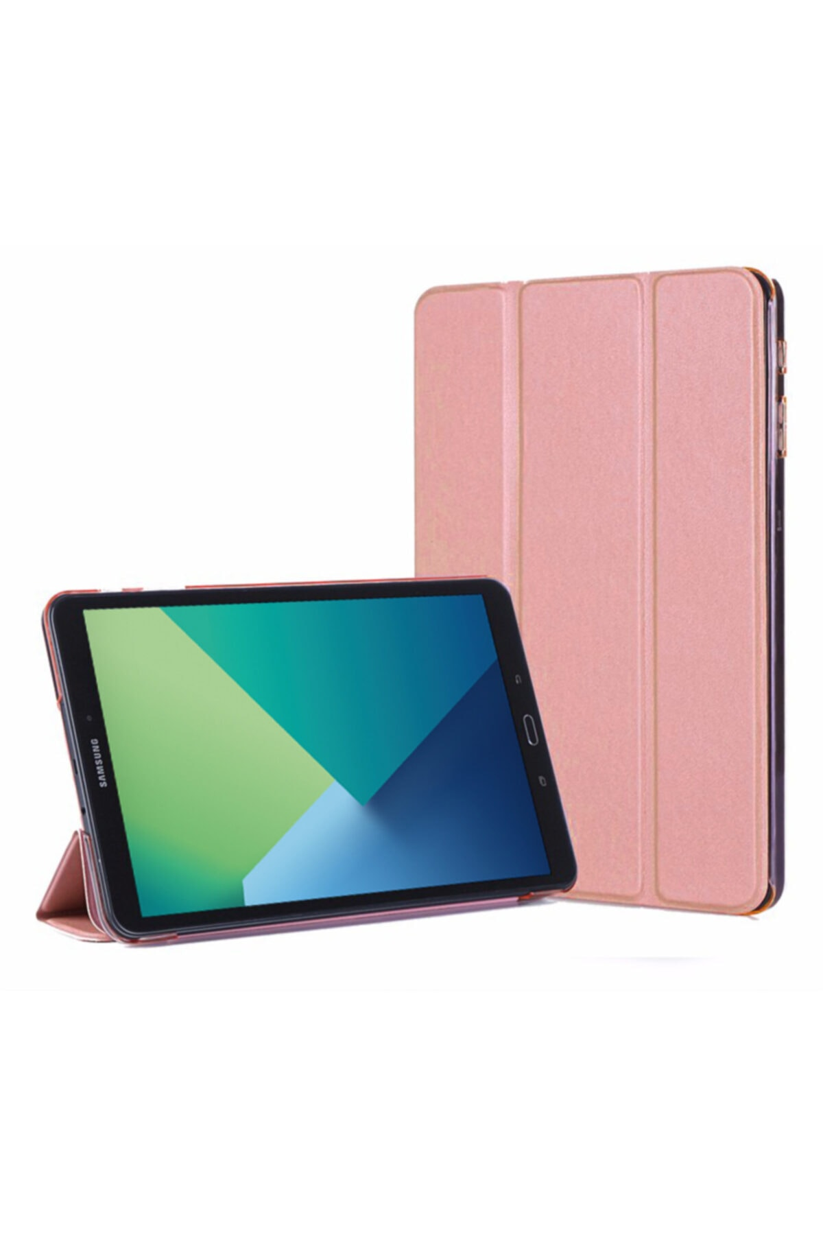 Microsonic Galaxy Tab A 10.1'' P580 Rose Gold Microsonic Smart Case ve Arka Kılıf 1