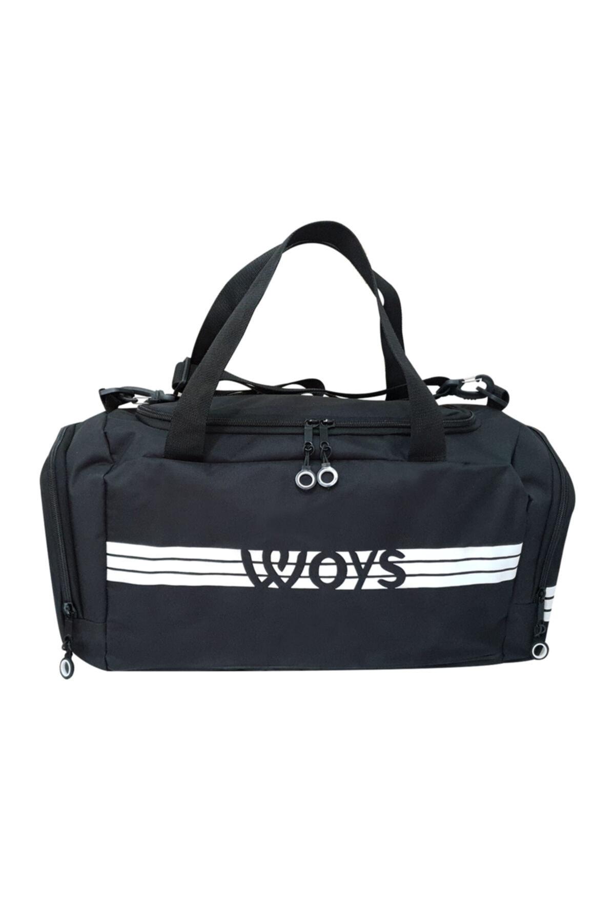 woys Unisex Siyah Bölmeli Sporcu Çantası 1