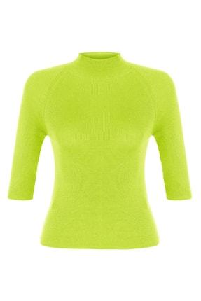 Mudo Kadın Yeşil Dik Yaka Triko Kazak 1218420