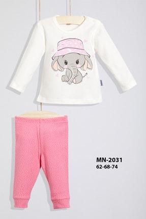 Wogi Kız Bebek Pijama Takım % 100 Pamuk