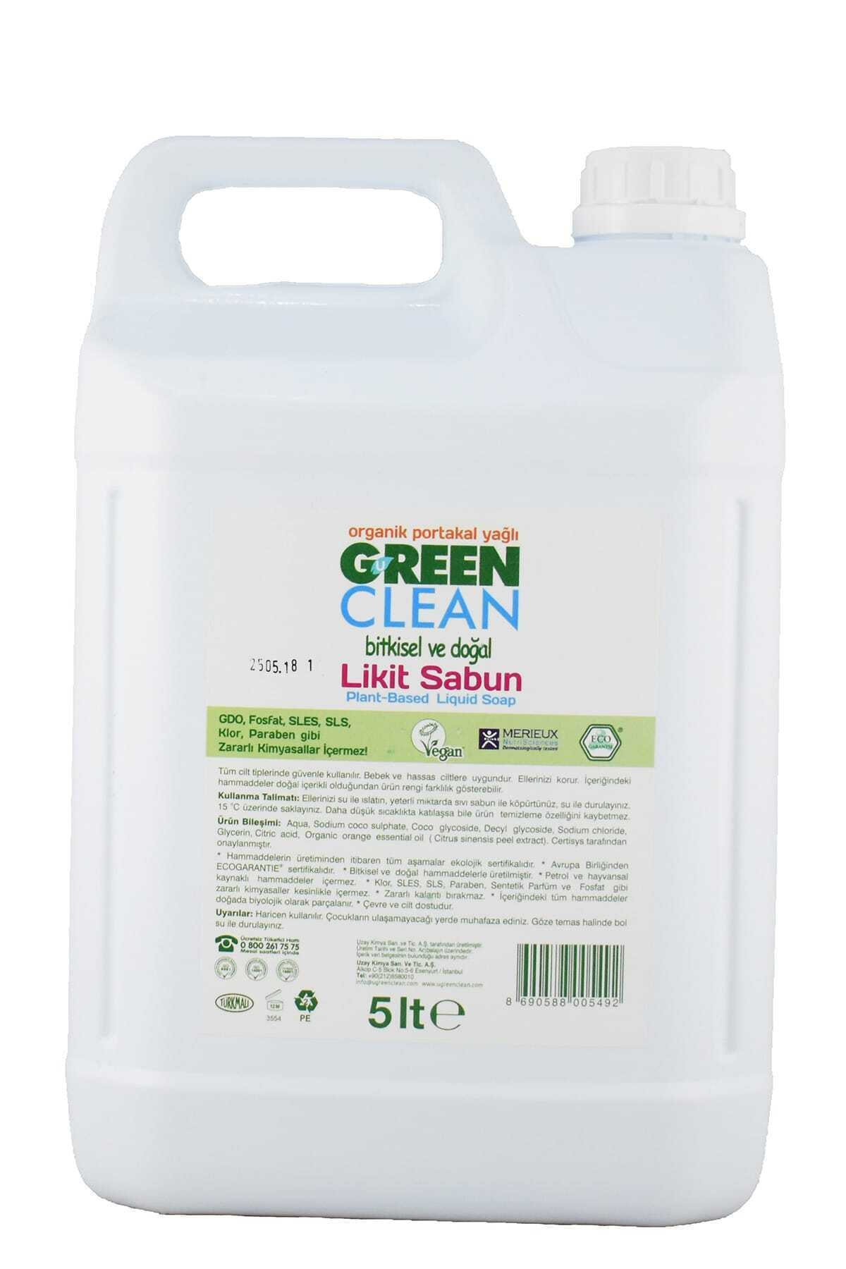 Green Clean Ugc Sıvı El Sabunu Portakal 5 Lt 1