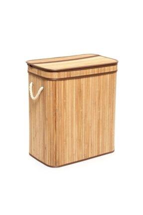 Lorin Üç Hazneli Katlanır Bambu Sepet