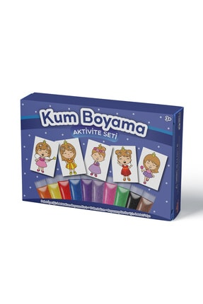 Kumbo Kum Boyama Sevimli Prenses Kum Boyama Aktivite Seti 5'li