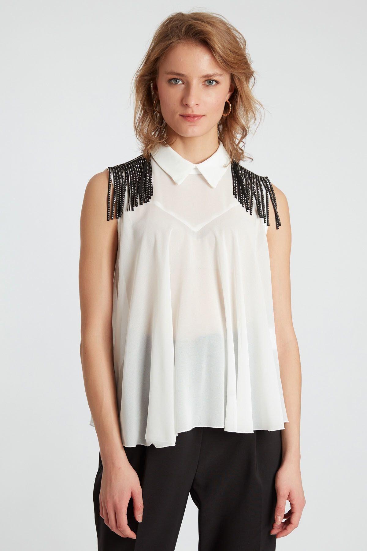 HomeStore Kadın Beyaz Bluz 1