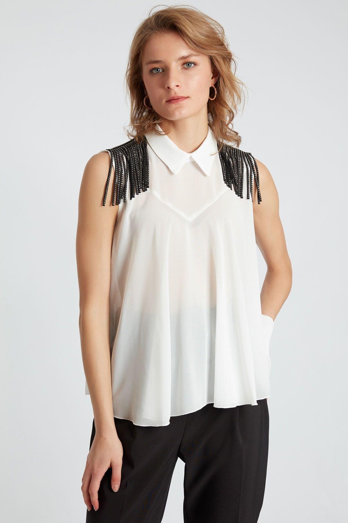 HomeStore Kadın Beyaz Bluz 2