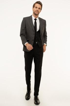 Pierre Cardin Erkek Füme Ekstra Slim Fit Kombin Yelekli Takım Elbise G021GL001.000.883662