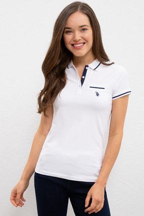 U.S. Polo Assn. Beyaz Kadin T-Shirt